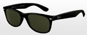 Ray-Ban New Wayfarer Sunglasses RB2132 - 901/58 - Black Frame/ Polarised Green Lens