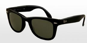 Ray-Ban Folding Wayfarer RB4105 - 601 Sunglasses - Black Frame Green Lens
