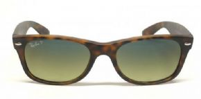 Ray-ban New Wayfarer Sunglasses Rb2132 894/76 Matte Havana/ Polarised Blue/ Green Mirror - Matte Havana Frame Polarised Blue/ Green Mirror Lens