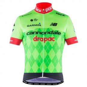 Poc Cannondale Drapac Team Jersey - POC logo in silicone on lower trim for a secure and comfortable fit